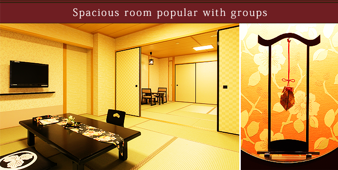 Spacious room popular with groups
