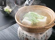 人気の湯豆腐 写真